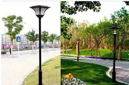 塘沽河滨公园景观灯损坏严重枝江